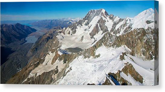 Fox Glacier Canvas Print - Flying To Fox Glacier #3 by Stuart Litoff