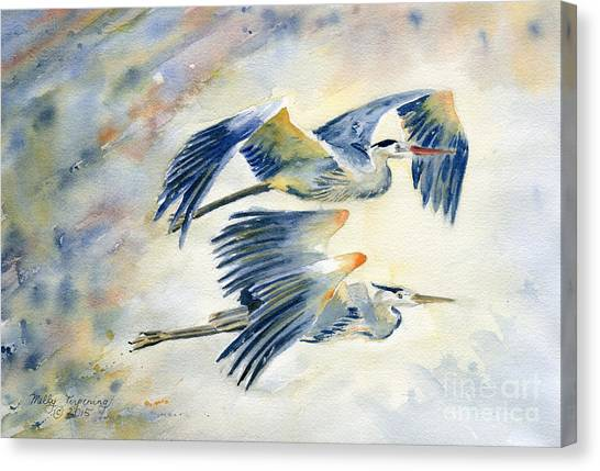 Flying Together Canvas Print