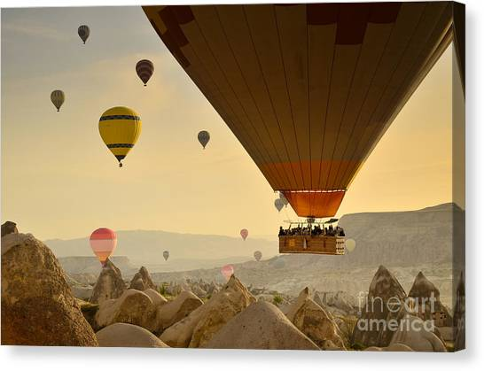 Flying With The Fairies 2 - Cappadocia Turkey Canvas Print by OUAP Photography