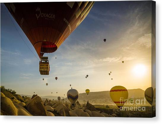 Flying With The Fairies - Cappadocia Turkey Canvas Print by OUAP Photography