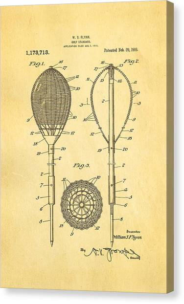 Trolley Canvas Print - Flynn Merion Golf Club Wicker Baskets Patent Art 1916 by Ian Monk