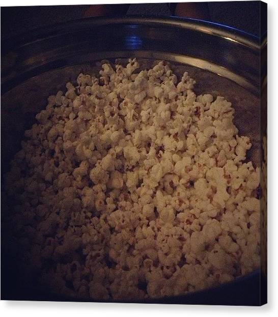 Popcorn Canvas Print - #fmsphotoaday #fatmumslim #asnack by Rainey Shafer