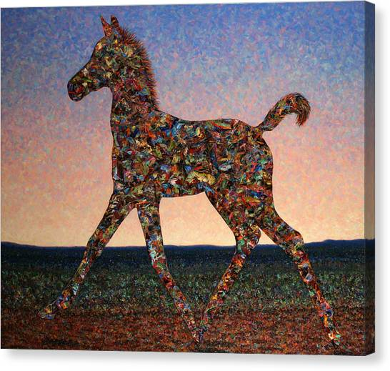 Abstract Horse Canvas Print - Foal Spirit by James W Johnson