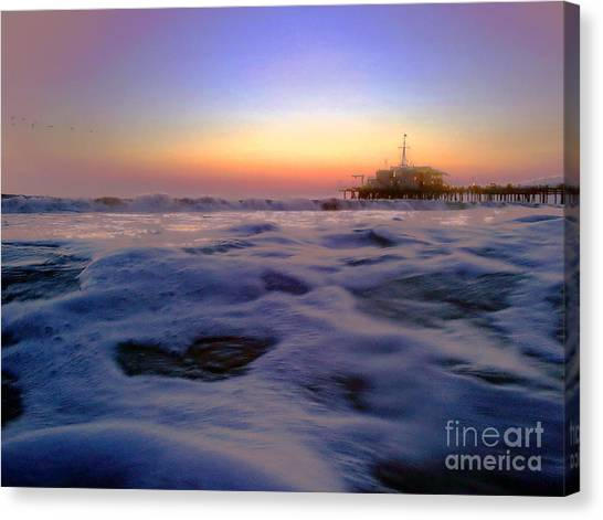 Foamy Sea Canvas Print