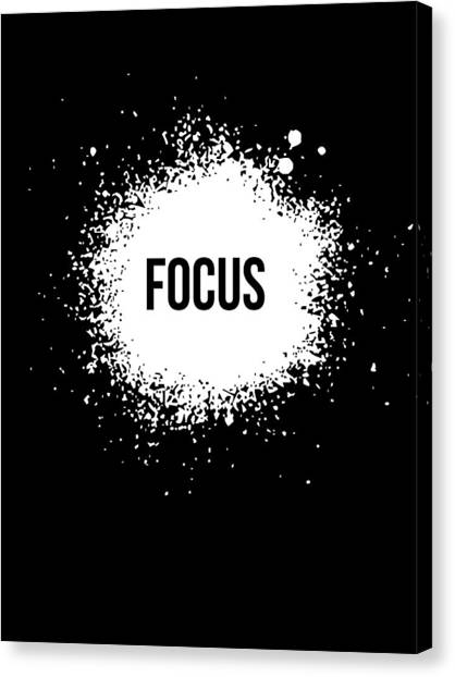 Hips Canvas Print - Focus Poster Black by Naxart Studio