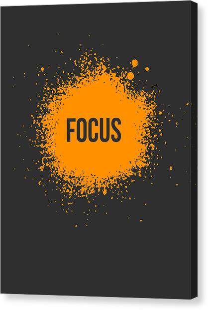 Orange Canvas Print - Focus Splatter Poster 3 by Naxart Studio