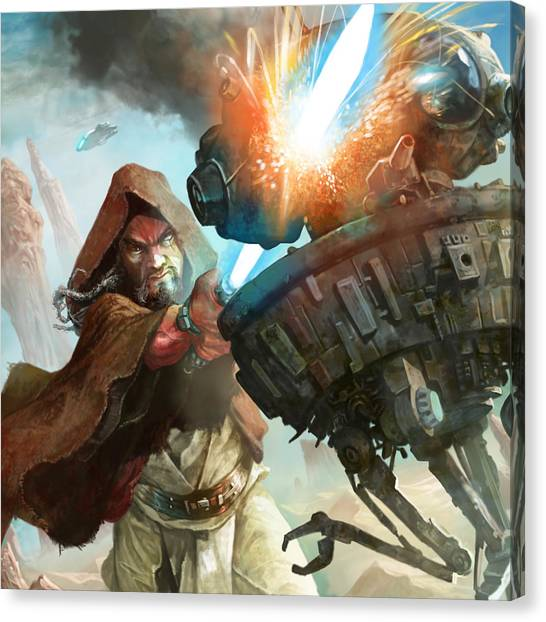 Droid Canvas Print - Focused Strike by Ryan Barger