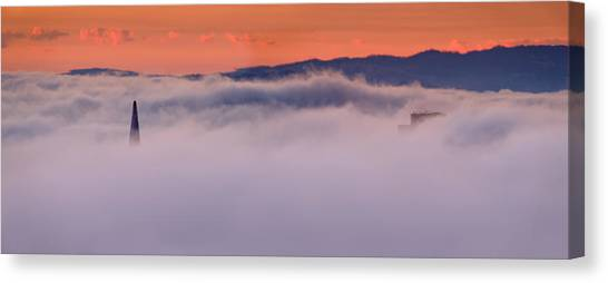 City Sunrises Canvas Print - Fog City Sunrise Colors by David Yu