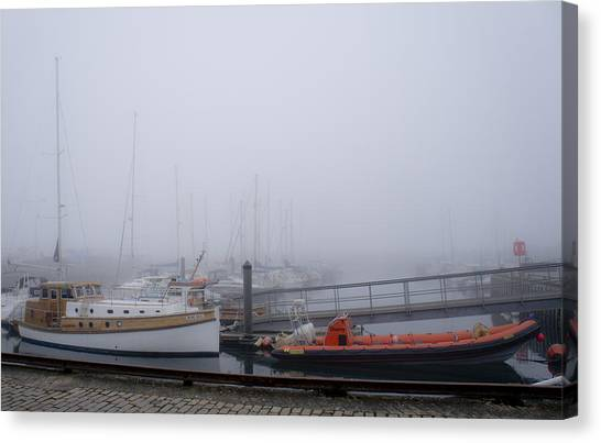 Fog In Marina IIi Canvas Print