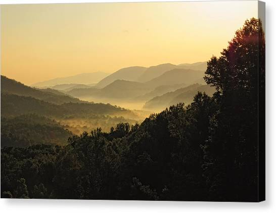 Fog In The Valleys Canvas Print