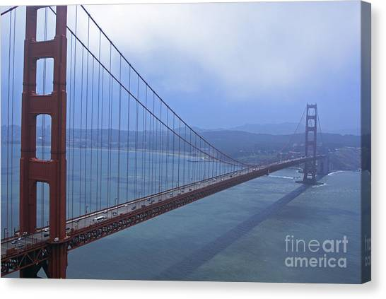 Fog Lifting Over The Golden Bridge  Canvas Print
