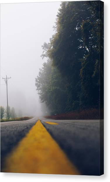 Fog On Highway Canvas Print