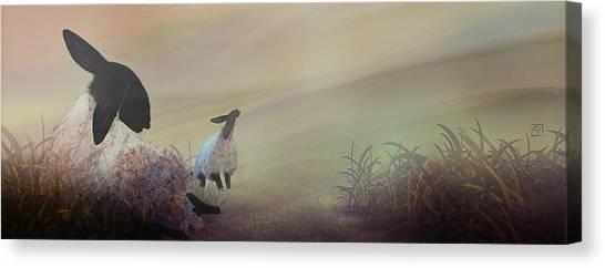 Fog On The Moor Canvas Print