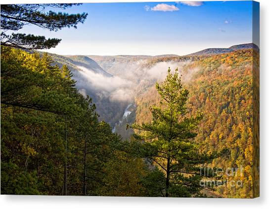 Fog Over The Canyon Canvas Print