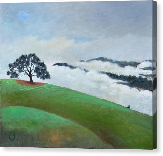 Fog Spilling In Canvas Print