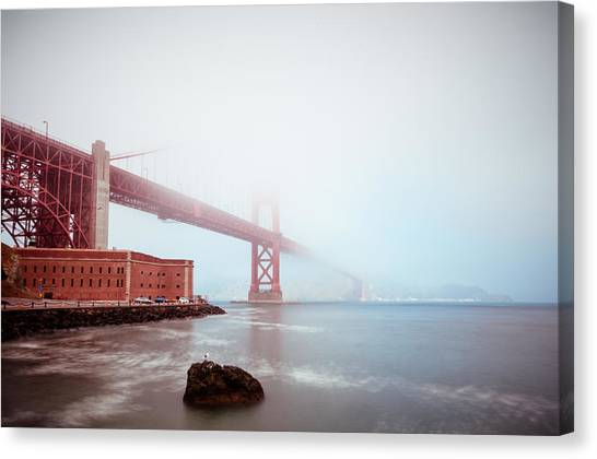 Foggy Bay Canvas Print