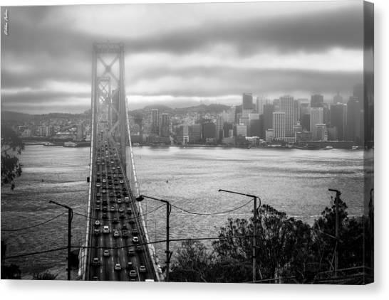 Foggy City Of San Francisco Canvas Print
