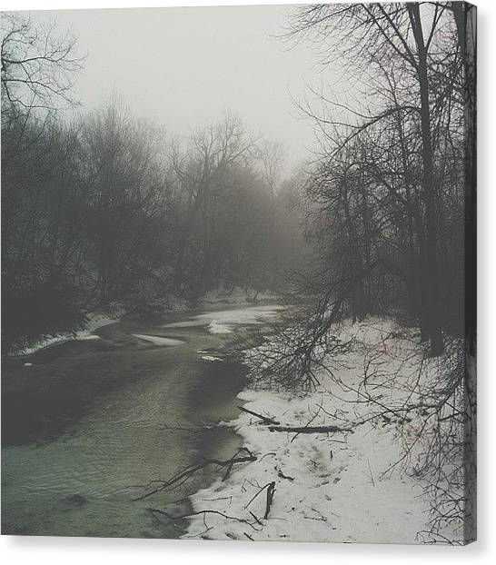 Foggy Forests Canvas Print - Foggy Days. #foggy #foggyday by Noah Prodanovic-Boisvert