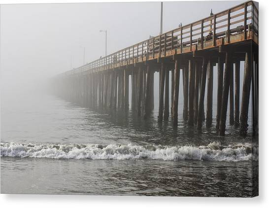 Foggy Dock Canvas Print by Jim Young