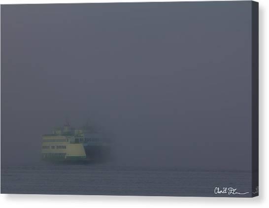 Foggy Ferry Ride Canvas Print