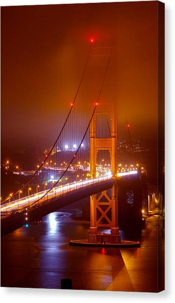 Foggy Golden Gate Canvas Print