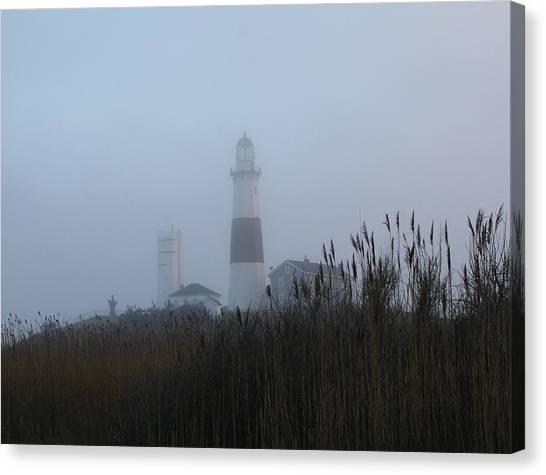 Foggy Montauk Lighthouse Canvas Print