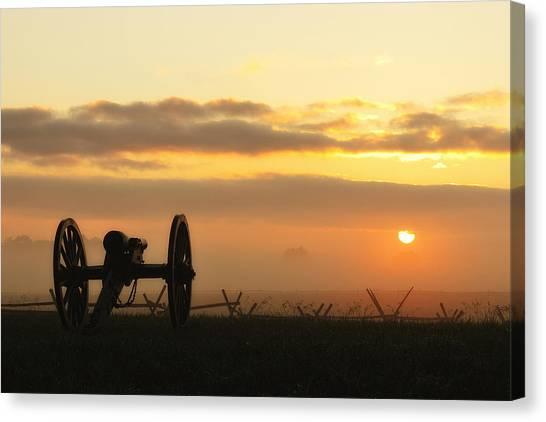 Foggy Morning Battlefield Canvas Print