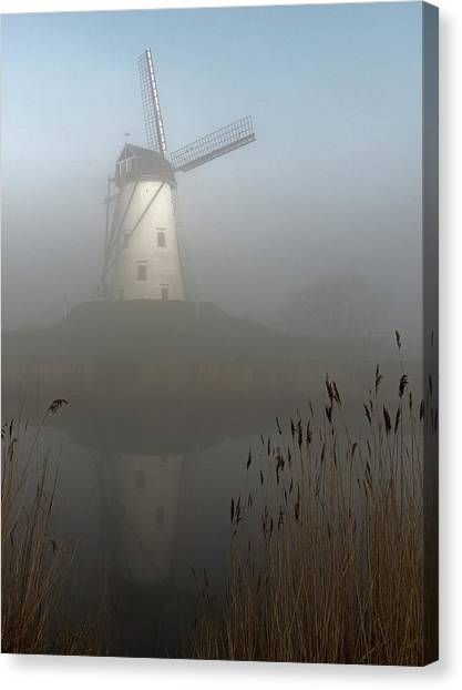 Belgium Canvas Print - Foggy Morning by Elisabeth Wehrmann