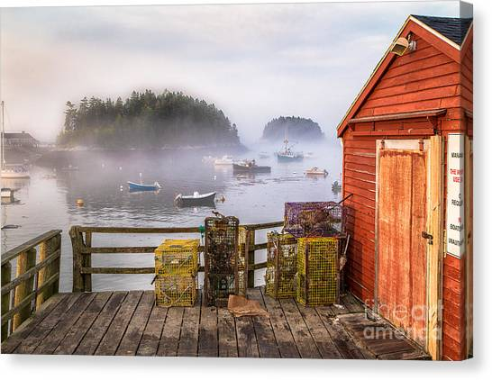 Foggy Morning In Five Islands Canvas Print