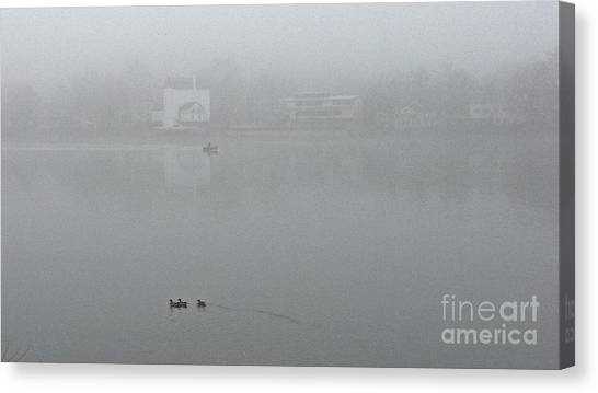 Foggy Morning In Paradise - 01 Canvas Print