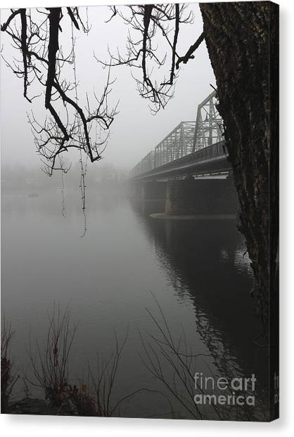 Foggy Morning In Paradise - The Bridge Canvas Print