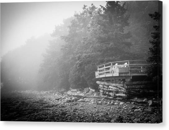 Foggy Morning Overlook Canvas Print by David Pinsent