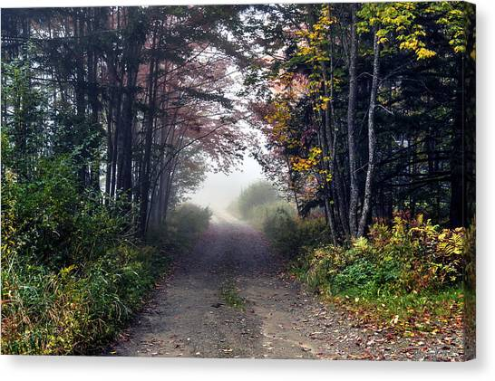 Foggy Morning - Stowe Vermont Canvas Print