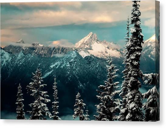Treeline Canvas Print - Foggy Mountain by Ryan McGinnis