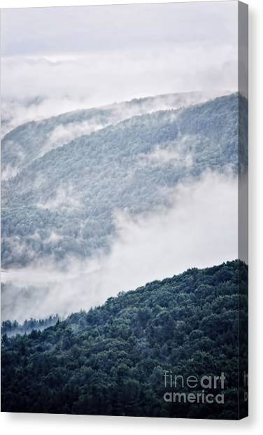 Mountainscape Canvas Print - Foggy Mountainscape by HD Connelly