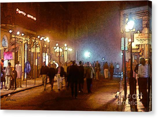 Gumbo Canvas Print - Foggy Night - New Orleans by Linda  Parker