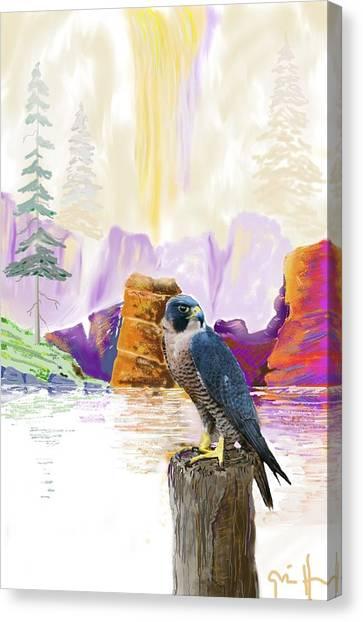Foggy Notch Falls Canvas Print