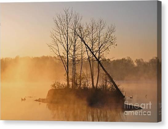 Foggy Ohio Morning Canvas Print