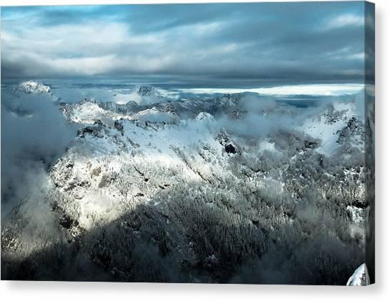 Treeline Canvas Print - Foggy Ridge by Ryan McGinnis