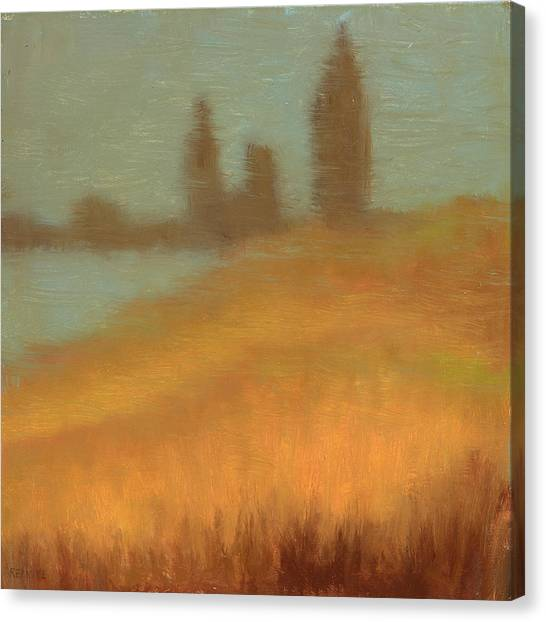 Foggy Skyline From Felixs Canvas Print