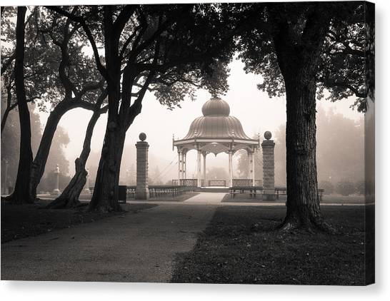 Music Stand Canvas Print - Foggy Tower Grove by Scott Rackers