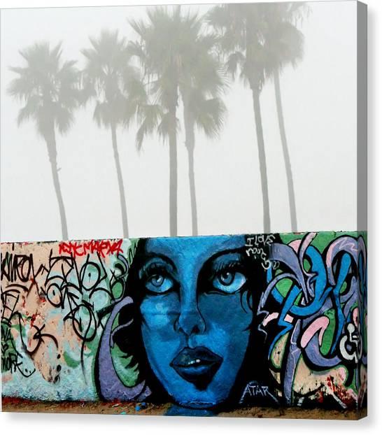 Foggy Venice Beach Canvas Print