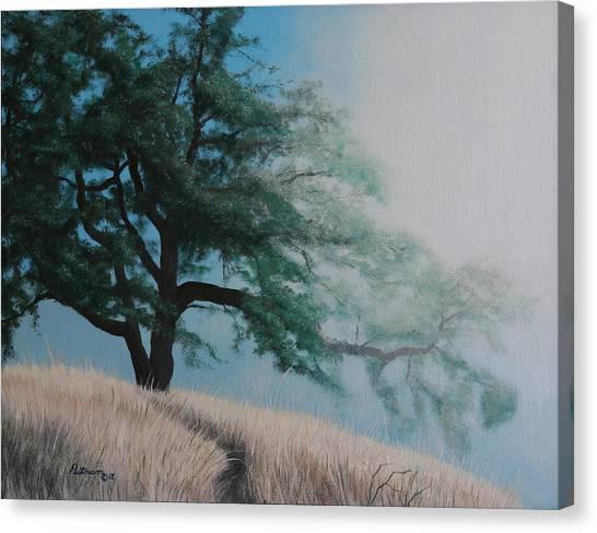 Fog's Morning Kiss Canvas Print