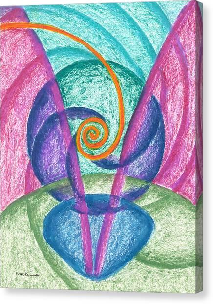 Fold Upon Fold Mandala Canvas Print