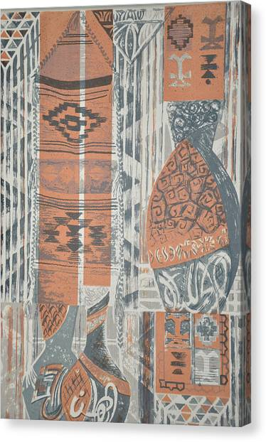 Folk Arabic Symbols Canvas Print