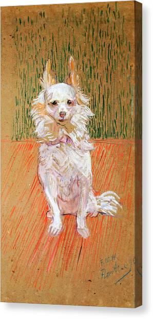 Canvas Print featuring the painting Follette by Henri de Toulouse-Lautrec