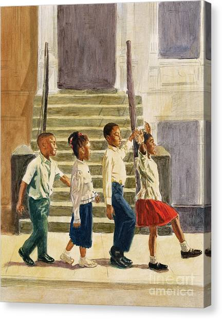 African American Artist Canvas Print - Follow Me by Colin Bootman