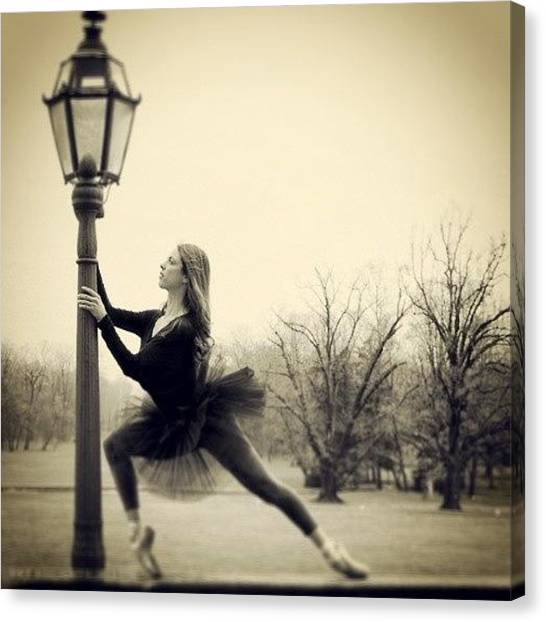 Ballerinas Canvas Print - Follow Me It You Like My by Marco Cappalunga