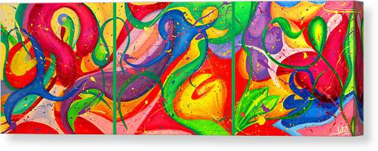 Follow Me Triptych Canvas Print