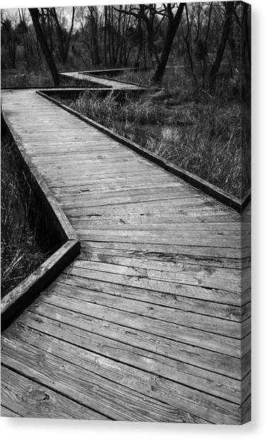 Follow The Boardwalk Canvas Print